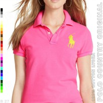 POLO COUNTRY Original C3-29 Kaos Polo Cewe Cotton Lycra Magenta