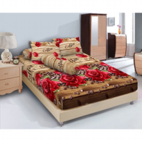 Sprei Kintakun Uk 180x200 Motif Brown Coffe