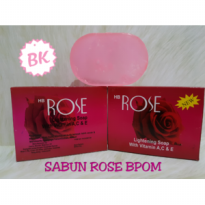 SABUN ROSE BPOM - Lightening Bar Soap / Sabun Batang Rose Merah /Mawar
