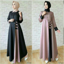 Maxi Dress Muslim / Gamis Wanita Long Dress / Maxi Long Wanita AFIDA D