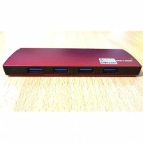 USB HUB 3.0 4 PORT SLIM ULTRA THIN SUPPORT 1 TB HIGH QUALITY VERSI 3.0