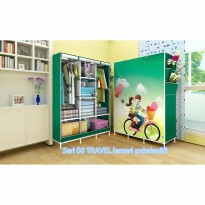 08 TRAVEL Multifunction Wardrobe with cover lemari pakaian