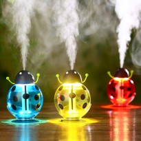 Mini USB LED Beetles Ultrasonic Portable Air Diffuser Night Light Aroma Mist Maker - Humidifier