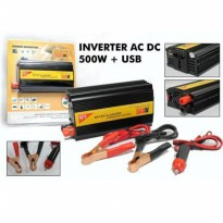 HOT PROMO!!! Power Inverter 500 Charger Mobil 500 watt DC To AC & USB - ACC-PW-500W