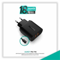 HOT PROMO!!! Aukey PA-T16 Dual Port Turbo Charger with Quick Charge 3.0