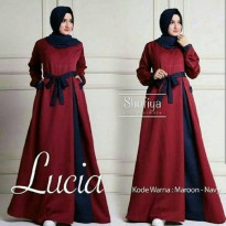 Dress Maxi / Lucia Dress Marun - Navy