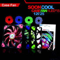 HOT PROMO!!! Fan CPU, Fan Casing 12cm ALSEYE Soon Cool 15 Led