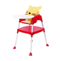 BABY SAFE SEPARABLE HIGH CHAIR/ KURSI MAKAN BAYI - TIGER RED