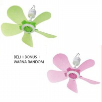 Beli 1 Bonus 1 Luby Mini Ceiling Fan - Random