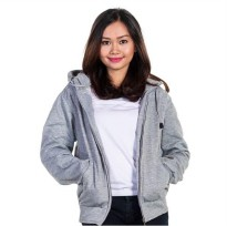 JAKET POLOS HOODIE ZIPPER ABU MISTY MUDA LADIES