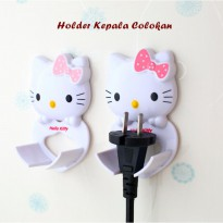 Holder Kepala Colokan HELLO KITTY