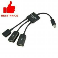 Otg Kabel 3 In 1 Multifuncion Micro Usb Hub Data Kabel Adapter