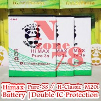 Baterai Himax Pure 3s Himax H Classic M20i Double IC Protection