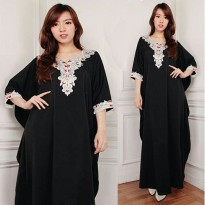 Dress maxy gamis kaftan wanita jumbo long dress Mirna