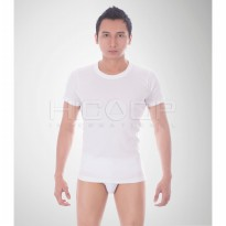 Hicoop Men Undershirt Oblong Round-Neck HS-01 MAX - PUTIH