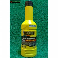 Prestone Power Steering Fluid-Minyak-Oli Stop Leak Clear Bening 300 ML