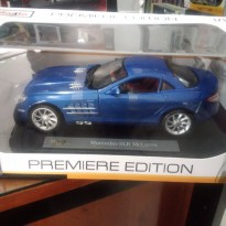 Mercedes SLR McLaren Blue 1/18 MAISTO Biru include plate name