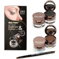 UKURAN BESAR Big Music Flower Eyebrow & Eyeliner cream 2in1 original