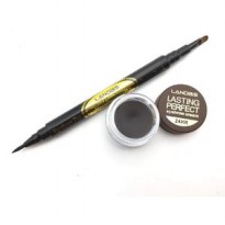 LANDBIS EYEBROW GEL AND EYELINER + BRUSH 3IN1 DEEP BROWN NO 01