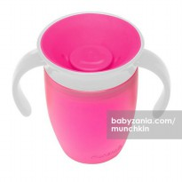 Munchkin Miracle 360 Trainer Cup 7 oz (With Handles) - Pink White