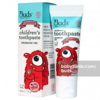 Buds Children's Toothpaste 50ml (1 - 3 Year) - Strawberry