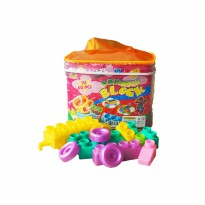 Creative Block Full Color Isi 60 Pcs Mainan Edukasi Anak - OCT9801