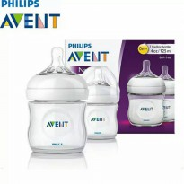 Botol Susu Avent Natural 125ml Isi 2pcs