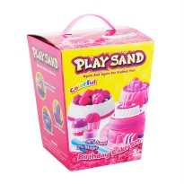 Play Sand Mainan Anak Pasir - Playsand Birthday cake & Fresh Fruit Ages 3+