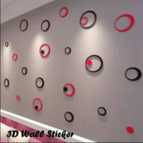 3D wall sticker model bulat (hiasan dinding)