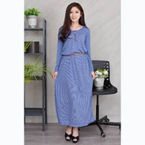 Jfashion Gamis variasi seleting tangan Panjang - Aurel