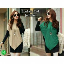 setelan rok 2in1 set blouse panjang blus