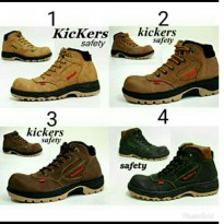 Sepatu Boots Caterpillar Safety Casual Pria Kickers Low Boot Kulit