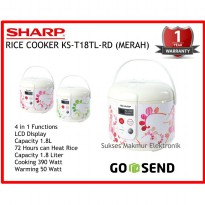 Rice Cooker Sharp KS-T18TL-RD -(Merah) Cap 1.8L Touch Panel