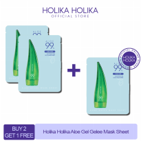 (3pcs) Holika Holika Aloe 99% Soothing Gel Gelee Mask Sheet
