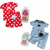 Setelan Piyama Pendek Bayi Baby Grow by Carter's Junior isi 2 pcs - Unisex - 3M - 24 M