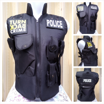 (TURN BACK CRIME)Rompi POLICE/Vest POLICE TURN BACK CRIME