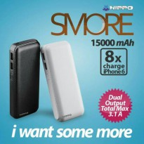 POWERBANK HIPPO SMORE 15000 MAH MURAH 15000mah 15.000 POWER BANK 10000