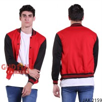 Jaket Baseball Pria Simple Casual JAK 2159