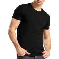 HICOOP MEN UNDERSHIRT ROUND-NECK GOLD LABEL HSG-01 BLACK / MISTY