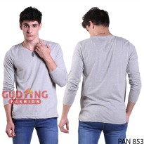 T-Shirt O-Neck Lengan Panjang Slim PAN 853