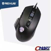 Mouse Gaming Rexus X8 Xierra with macro and RGB LED Light - RXM-X8