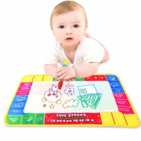 [FREE ONGKIR] New Water Drawing Painting Writing Mat Board Magic Pen Doodle Toy Gift 29X19cm