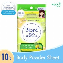 Biore Sarasara Body Powder Sheets Fresh Citrus