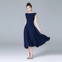 Ally Dress Premium Dress Blue Navy super elegant kode 1036