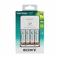 HOT PROMO!!! Charger Baterai SONY with Baterai AA 4pcs