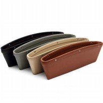 Leather Car Seat Gap Storage Organizer Wadah Samping Kursi