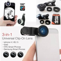 Promo Lensa Fishe Eye 3In1 Unversal Clip Lens