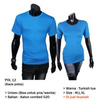 Atasan Couple Combed Katun - POL 12