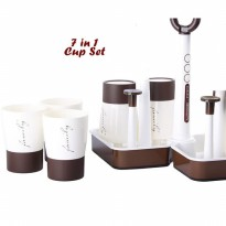 7 in 1 Cup Set ( Set 6 gelas dan 1 holder gelas)