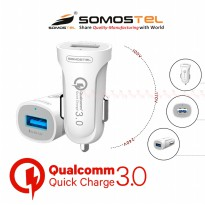 Adaptor Batok Kepala CAR Charger Qualcomm Quick Charger 3.0 Fast Charging SMS-A47 Somostel